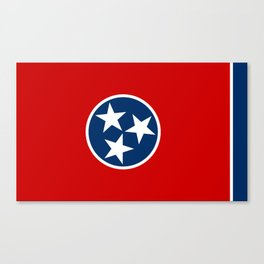 Flag of Tennessee - Authentic High Quality Image Canvas Print