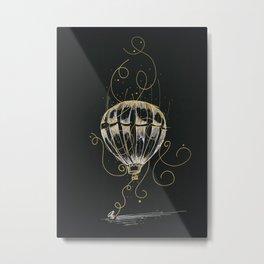 Flight on Hold Metal Print
