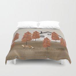 an autumns morning Duvet Cover