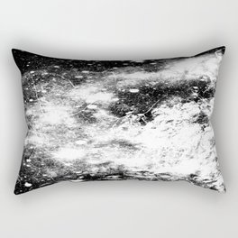 Chaotic Space : Galaxy Black White Gray Rectangular Pillow