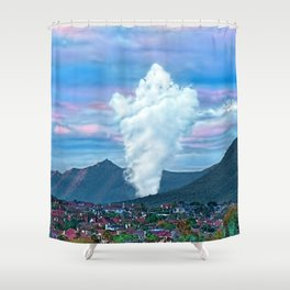 Cold Winter Morning Spectre Over Phoenix Shower Curtain