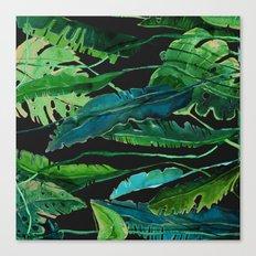 tropical nature compilation at nigth Canvas Print