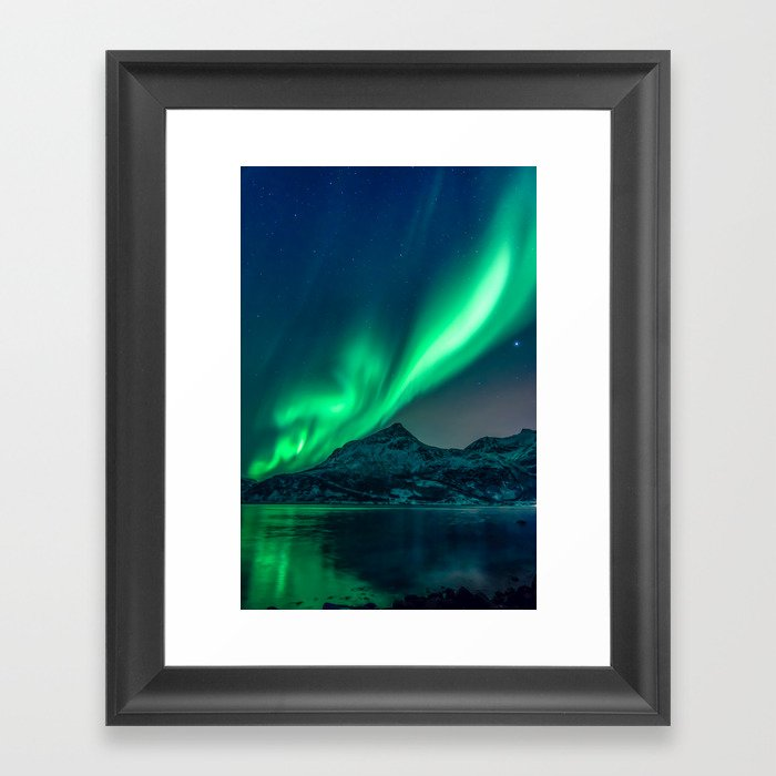 Aurora Borealis (Northern Lights) Gerahmter Kunstdruck