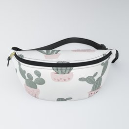 Elegant Cacti in Pots Pattern Fanny Pack