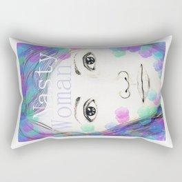 Nasty Woman - Original Drawing with Digital Art - Feminist Art Rectangular Pillow