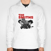 the smiths Hoodies featuring The Smiths (white version) by BinaryGod.com