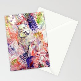 Io, Rhino painting Stationery Cards