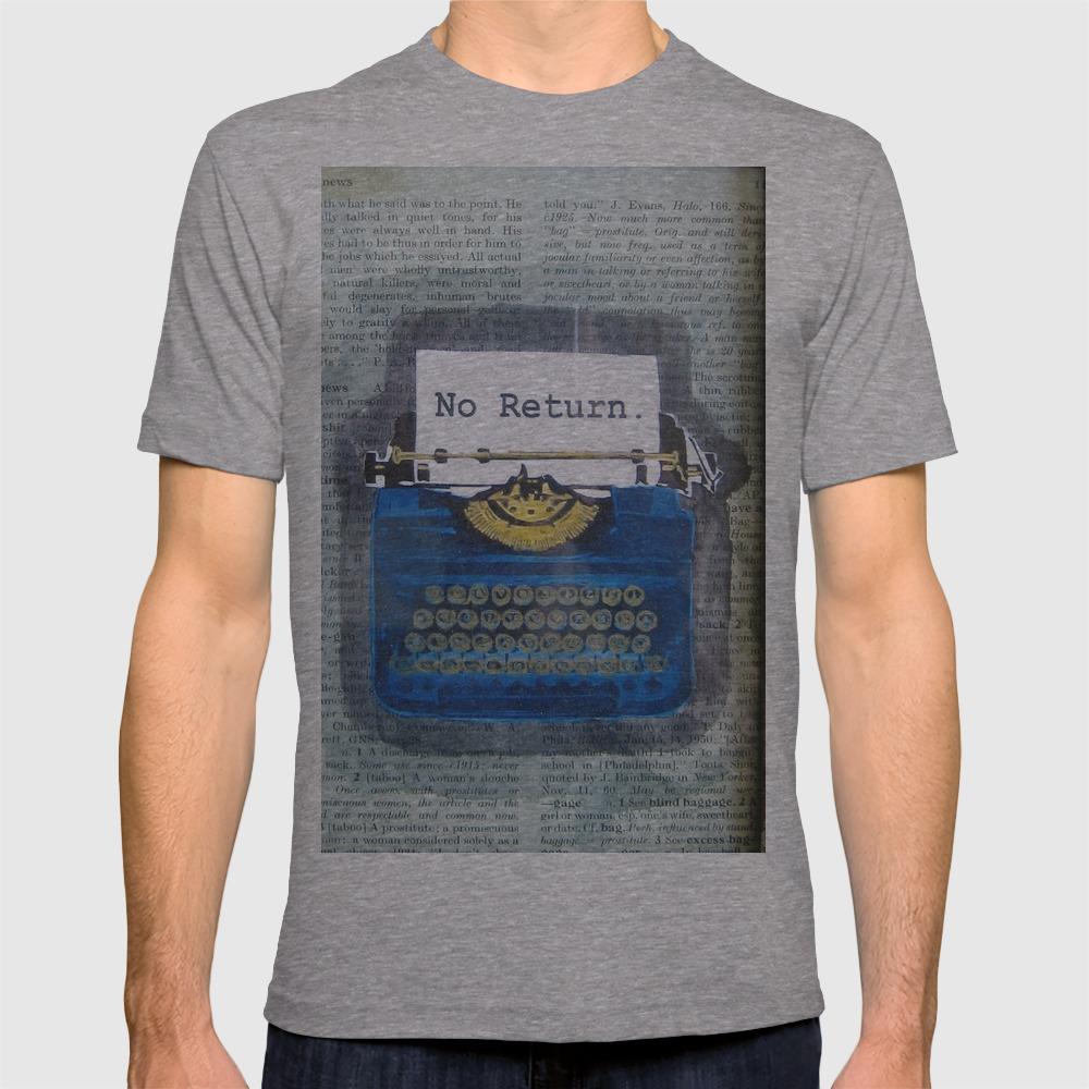 Bad News - No Return - Typewriter T-shirt