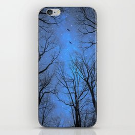 A Certain Darkness Is Needed (Night Trees Silhouette) iPhone Skin