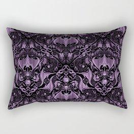 Bats and Beasts (Purple) Rectangular Pillow