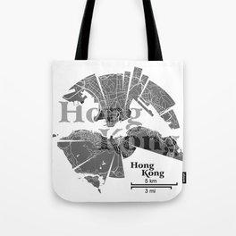 Hong Kong Map Tote Bag