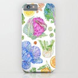 Winter Harvest Watercolour - White iPhone Case