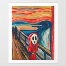 The Scream Shy Guy Art Print