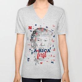 Donald Trump America first Unisex V-Neck