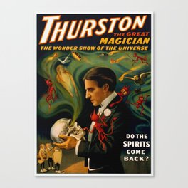 Thurston The Great Magician - Spirits Canvas Print