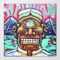 cyclops Canvas Prints featuring CYCLOPS by M. Ali Kahn