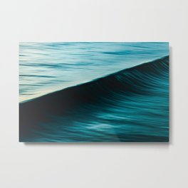 Blurred deep blue ocean swell wave California Metal Print