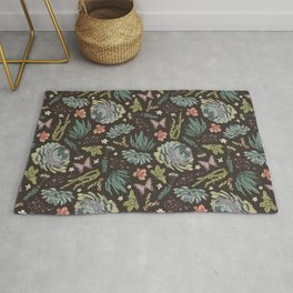 Cacti by Night Rug