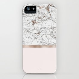 Gleaming rose gold blush iPhone Case