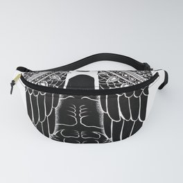 Man and Black wing Fanny Pack