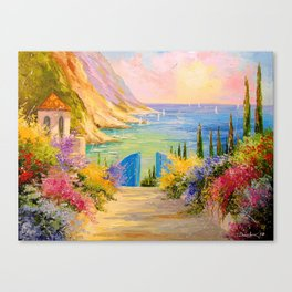Road to the sea Canvas Print