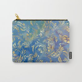 Blue Gold Swirls #2 Carry-All Pouch