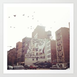 Birds Over Soho Art Print