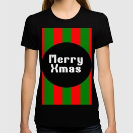 merry Xmas funny logo pattern T-shirt