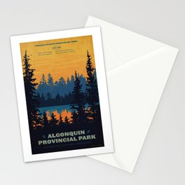 Algonquin Park Poster Stationery Cards