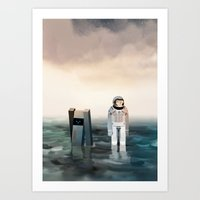 interstellar Art Prints featuring Interstellar by Reuno