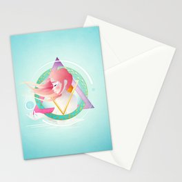 Zodiac Geometry :: Pisces Stationery Cards
