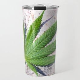Cannabis On Stone Travel Mug