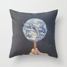 Lollipop Globe Throw Pillow