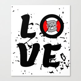 Love Tennis with a tennisball logo | BTNNS Canvas Print