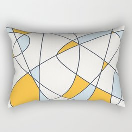 Classic Abstract Geometric Bauhaus Style Retro Pattern Painting #1 Rectangular Pillow