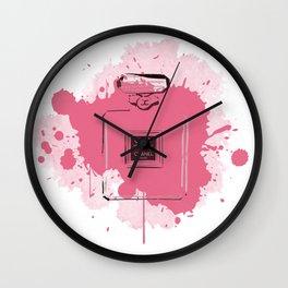 Pink Perfume Wall Clock