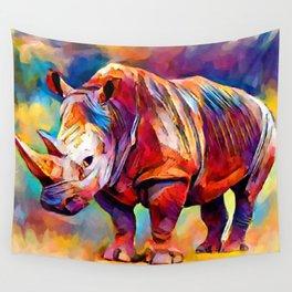 Rhinoceros Wall Tapestry