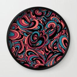 Swirls Galore #PopArt #CoolArt #Patterns Wall Clock