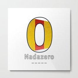 Nadazero - Navy Code Metal Print
