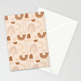 Trendy  hand drawn shapes Stationery Cards