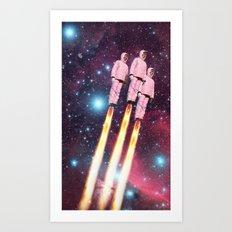 Pink Rockets Art Print