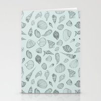 shells Stationery Cards featuring Shells by Catalina Montaña