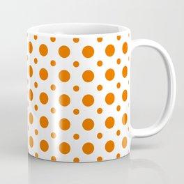 Bright orange and white polka dots pattern Coffee Mug