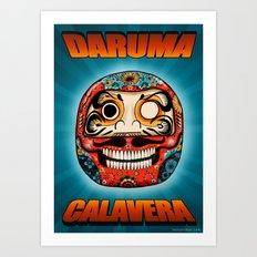Daruma Calavera  Art Print