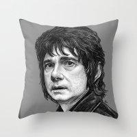 the hobbit Throw Pillows featuring HOBBIT by zinakorotkova
