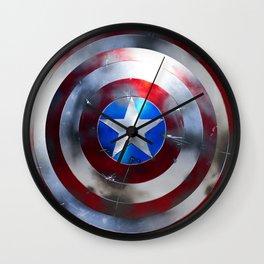 Captain Shield Wall Clock