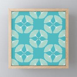 Gingko Greenery Pattern Framed Mini Art Print