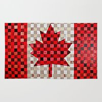canada Area & Throw Rugs featuring Canada Flag by Patti Friday