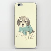 puppy iPhone & iPod Skins featuring puppy by maria elina
