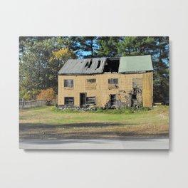 Distressed House Metal Print